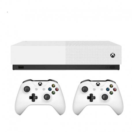 کنسول بازی مايکروسافت مدل Xbox One S all digital به همراه بازی 1 ترابایت دو دسته
