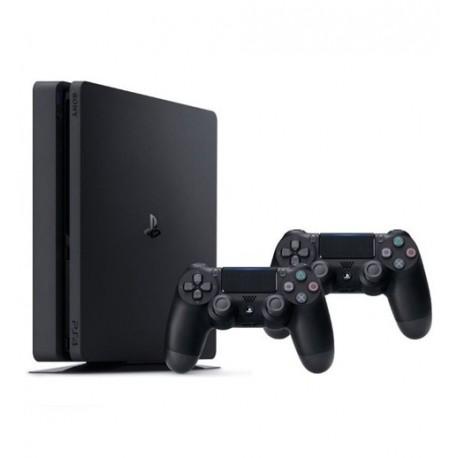 کنسول بازی Playstation 4 Slim ريجن 2 دو دسته - 1 ترابايت