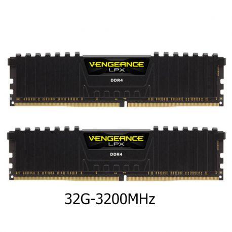 رم کورسیر32 گيگابايت دو کاناله مدل Vengeance LPX DDR4 3200MHz